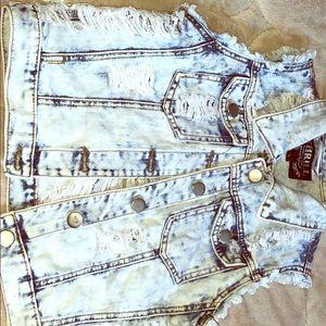 Jackets & Blazers - Summer ripped jean jacket